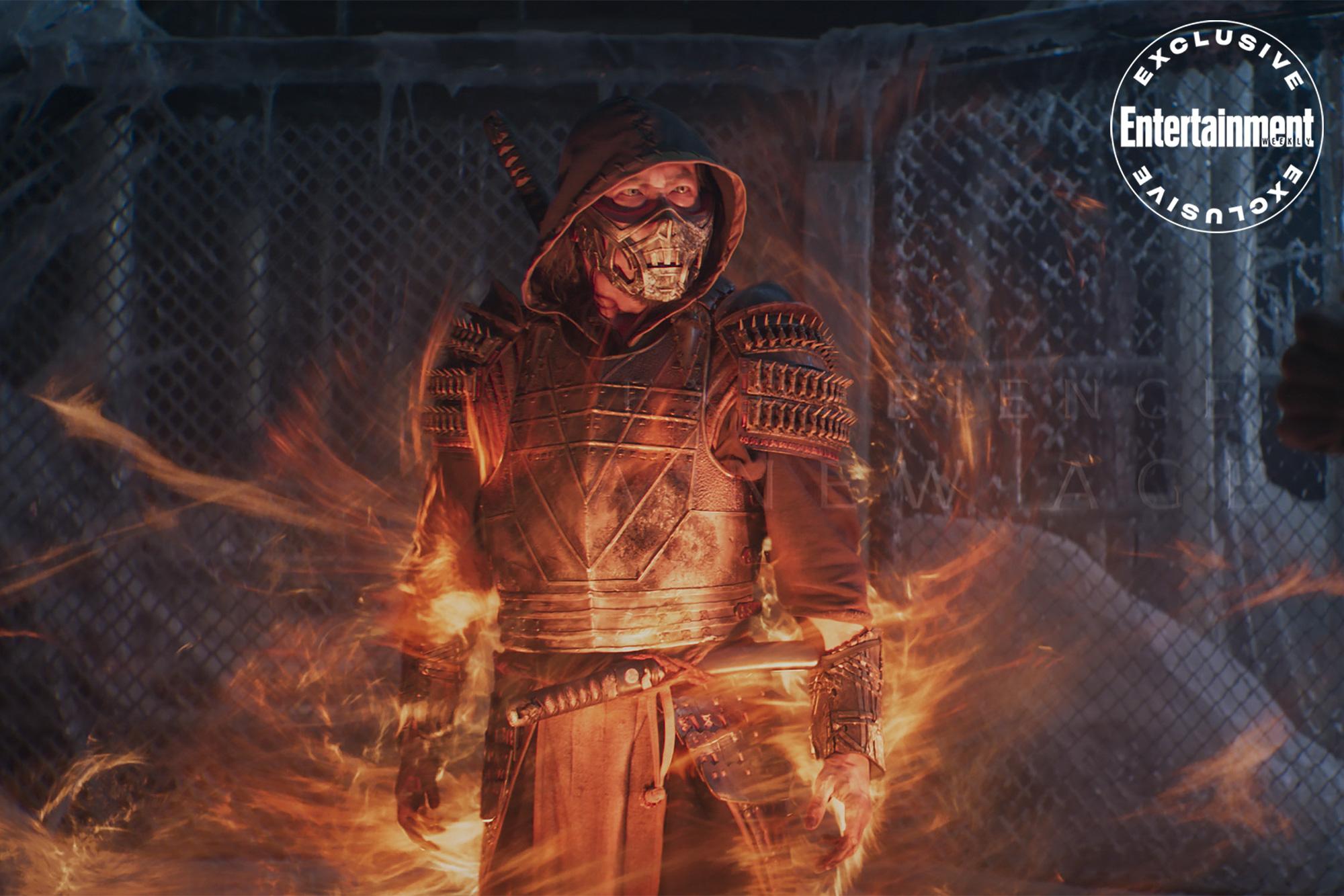 Scorpion é o destaque de nova foto do filme de Mortal Kombat