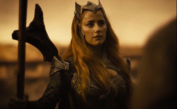 Amber Heard divulga vídeo nos bastidores da Liga da Justiça de Zack Snyder