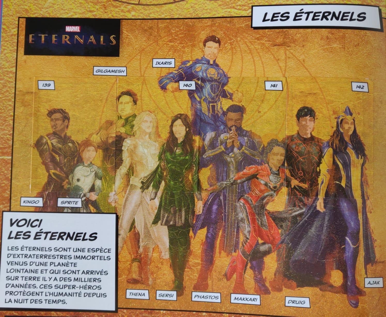 Eternos | Nova arte revela trajes da equipe