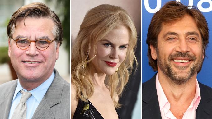 Javier Bardem e Nicole Kidman estão em negociações para estrelar novo filme de Aaron Sorkin