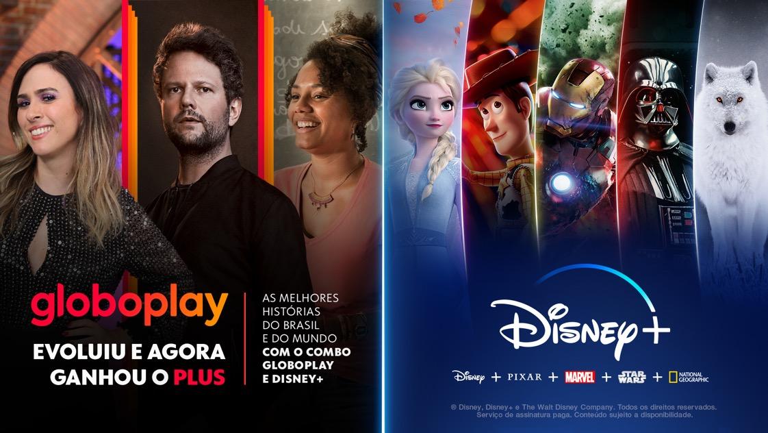 Disney Plus ganha combo de assinatura com GloboPlay