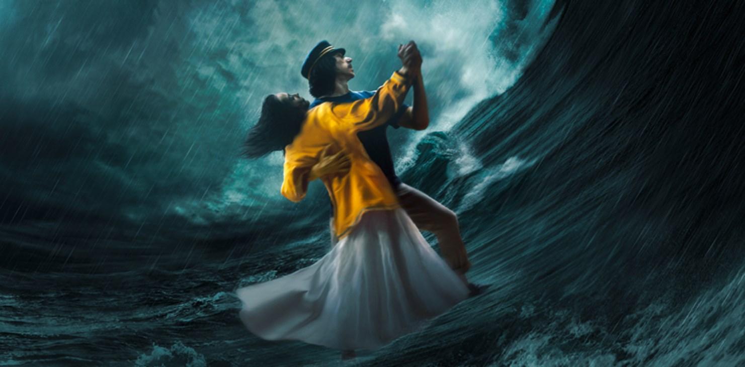 Adam Driver e Marion Cotillard dançam no oceano em primeiro pôster de Annette